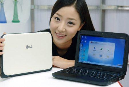 Нетбук LG X170 с функцией доступа к мобильному телефону SmartPOP