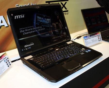 MSI оснастила игровой ноутбук GT780 видеокартой NVIDIA GeForce GTX 570M