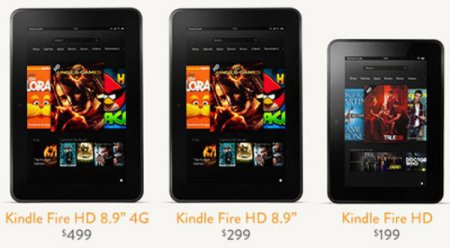 "Новые планшеты Amazon Kindle Fire HD 7"" и Amazon Kindle Fire HD 8,9"""