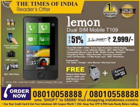 Интерфейс Windows Phone скопирован в индийском телефоне с поддержкой двух SIM-карт