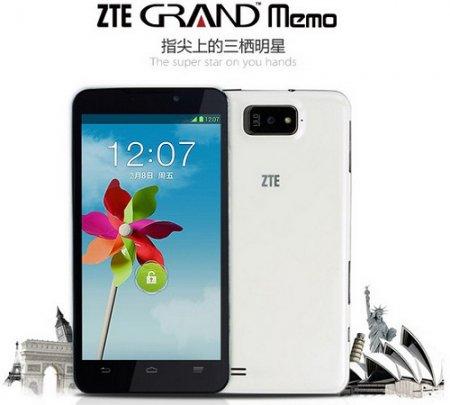 5,7-дюймовый ZTE Grand Memo выходит в продажу