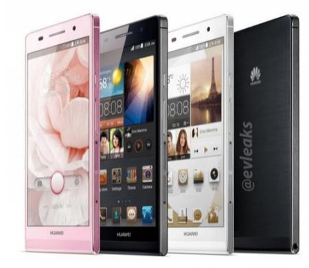 Официальное фото смартфона Huawei Ascend P6 с 6,18-мм корпусом