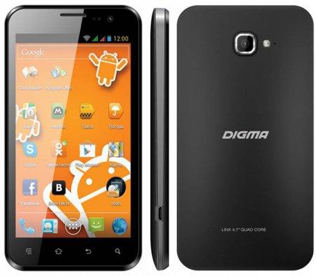 Анонс четырёхъядерного 3G-смартфона Digma Linx 4.7