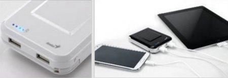 Универсальный портативный внешний аккумулятор Genius ECO-u1000 представлен в Украине