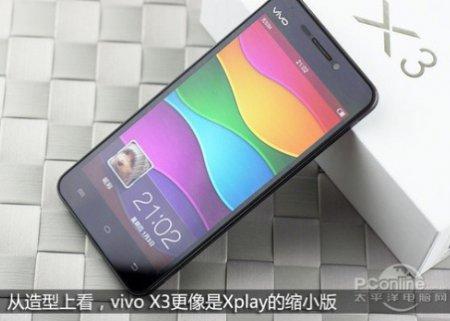 Смартфон Vivo X3 толщиной 5,75 мм получил дисплей разрешением 720p и качественный звуковой тракт