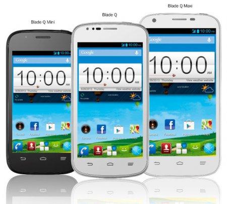 Анонс смартфонов Blade Q Mini, Blade Q и Blade Q Maxi от ZTE