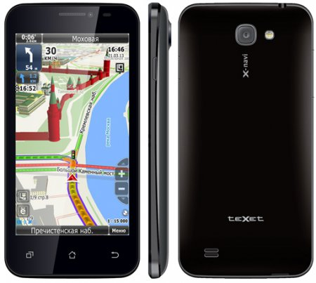 "Смартфон-навигатор teXet X-navi с 4,5"" экраном под две «симки»"