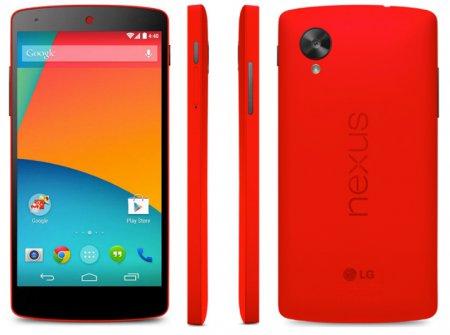 Представлен смартфон LG Nexus 5 в ярко-красном корпусе