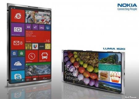 Концепт смартфона Nokia Lumia 1620 с 2K-дисплеем и 3 Гбайт ОЗУ
