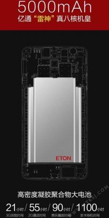 Смартфон Eton Raytheon: 8 ядер, батарея на 5000 мА·ч и 1100 ч в режиме ожидания